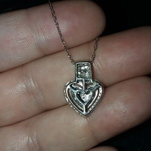 Affinity Jewelry - Affinity Heart Diamond Ring & Necklace